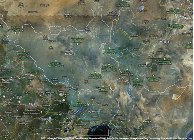 South Sudan Is Now Official On Google Maps PaanLuel Wël South - Google earth satellite map of world