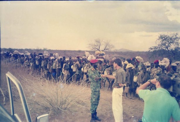 A Convoy of Lost Boys and Prezzo Salva Kiir in the 1980s