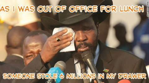 6 Millions in cash money stolen from President Kiir's office in Juba - South Sudan