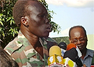 David Yau-Yau, the notorious Murle Rebel leader in Jonglei State, South Sudan, who has been fighting the government of South Sudan since 2010