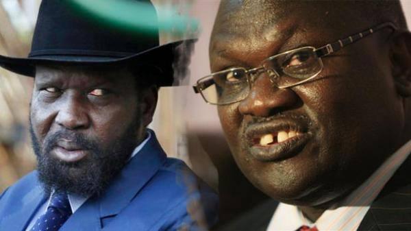 President Kiir and ex-VP Riek Machar