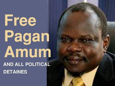 Pagan Amum Okiech, former secretary-general of the ruling SPLM party
