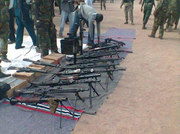 Cache of Weapons and Ammunitions siezed from UNMISS