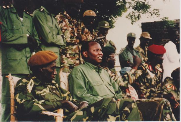 Dr. Costello Garang with Paulino Matip in Leer, 1993