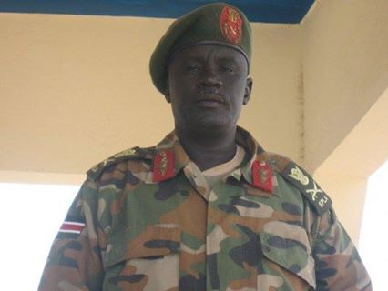 Gen. Daau Aturjong Nyuol, former Gubernatorial candidate for Northern Bahr el Ghazal, who claimed to have been rigged out by Gen. Malong Awan