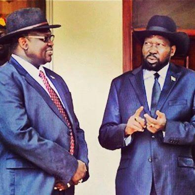 President Salva Kiir Mayaardit and his former Vice President, Dr. Riek Machar Teny