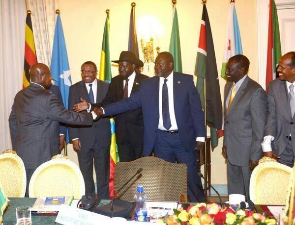Museveni, Kiir and Riek