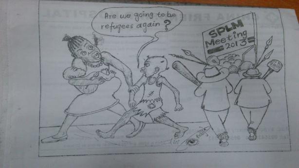 south sudanese pondering the Kiiriek's mess in Juba