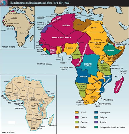 africa colonies map