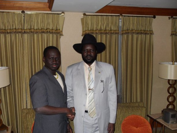 Gordon Buay with President Kiir, December 2010, in Canada