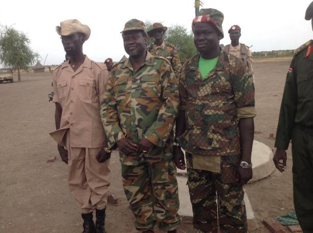 Mabioor de Garang, Deng Atem Wal and Riek Machar in Nasir