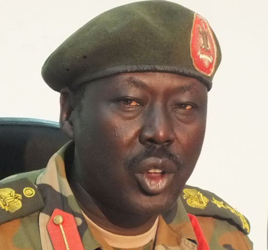 Col. Philip Agwer Panyang, Spokesperson for the South Sudan national army, the SPLA
