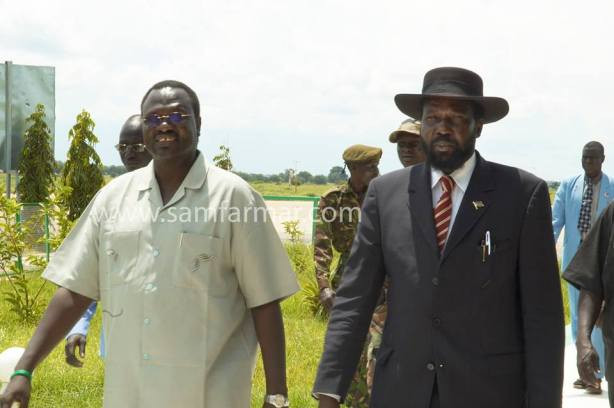 President Kiir and his former Vice President, Riek Machar, in their happy days