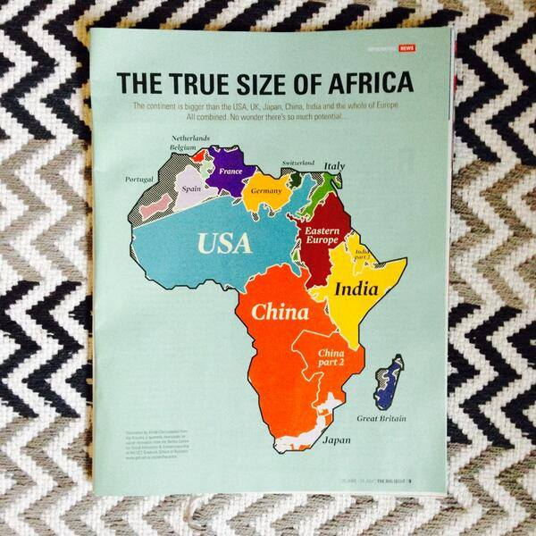 Africa. The True Size Of Africa