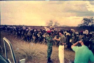Commander Salva Kiir leading Jeshamer to the Kenyan-South Sudan border