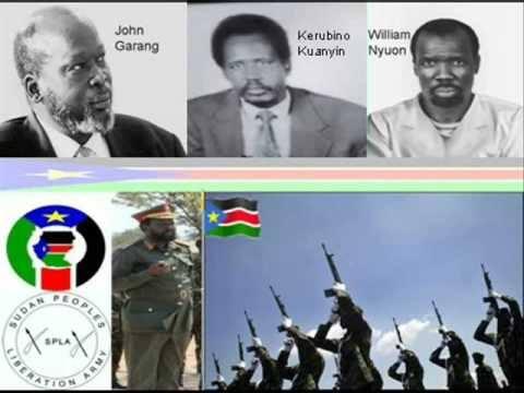 John Garang, Kerubino Kuanyin and William Nyuon