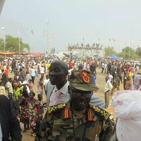 Malok Aleng de Mayen on July 9 2011---South Sudan's independence day