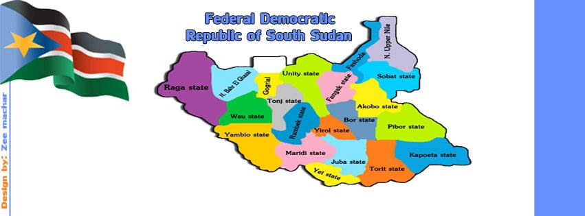 There Is No Need For Federalism In South Sudan PaanLuel Wël - Republic of the sudan map