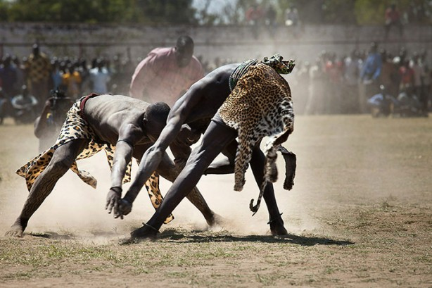 Dinka wrestling matches