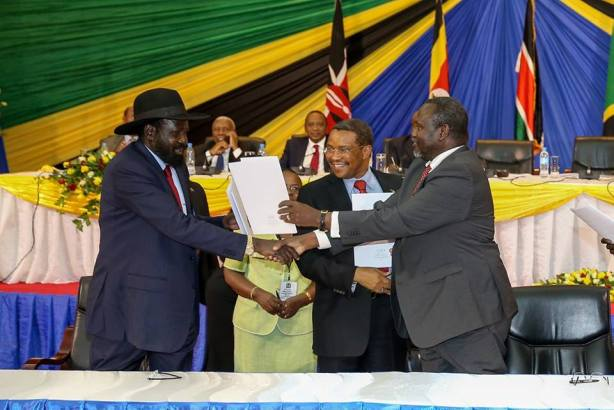 President Uhuru Kenyatta: We witnessed the signing of the SPLM Reunification Agreement between South Sudan President Salva Kiir, Dr. Riek Machar and Mr. Deng Alor Kuol which was overseen by Tanzania's President Jakaya Kikwete in Arusha, Tanzania. The signing of the agreement will help the SPLM work together. The framework will reunite the party which many South Sudanese had placed their hopes on. Some of us have been involved in this particular process since the beginning of the crisis, and indeed it has been very agonizing at times to see leaders unable to talk to one another and yet they were the same leaders the people of South Sudan depended on to guide the young republic after struggling for many years. We hope that the instruments that have been signed here will form the basis of bringing about peace in South Sudan which is the hope of the South Sudan and the East Africa region as a whole.