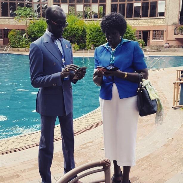 Mabior Garang and Madam Nyandeng in Arusha, Tanzania
