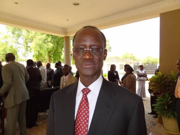 Telar Ring Deng, later South Sudan President Salva Kiir's nominee to become the new justice minister, 21 June 2014