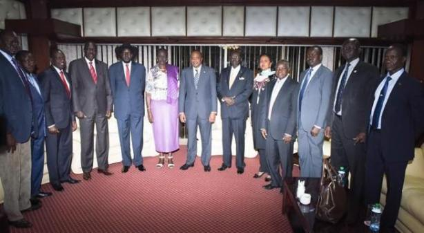 President Kiir and Madam Nyandeng Garang: Reunion between the gov't and the former political detainees