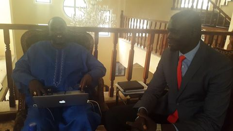 Agel Ring Machar with Riek Machar in Addis Ababa