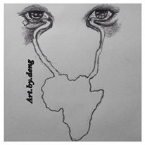 """The never ending tears of mother Africa"" This was my only way of expressing how I felt about the suffering of the Nigerian girls kidnapped by boko haram, and the risk of potentially losing 50,000 S. Sudanese children to hunger and diseases this year due to the ongoing conflict if nothing positive is done. Africa we need a change!"