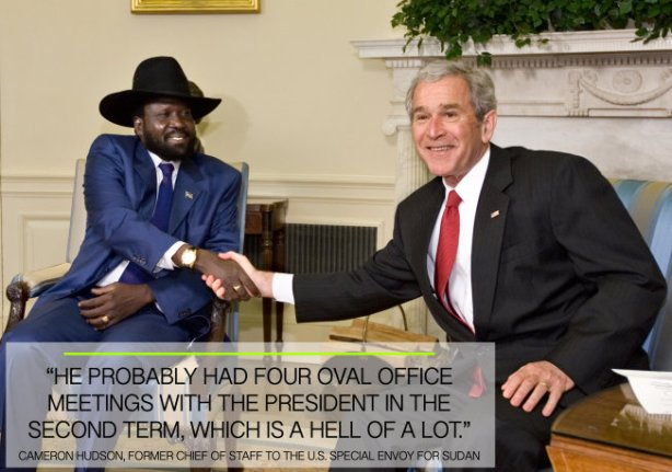 President Bush with President Salva Kiir at the Oval Office, White House