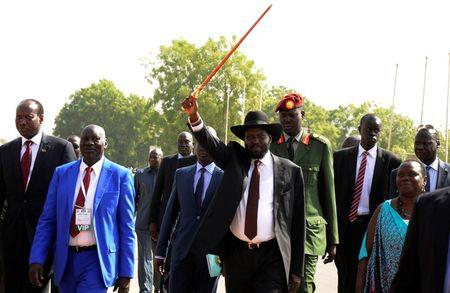 kiir at splm rally