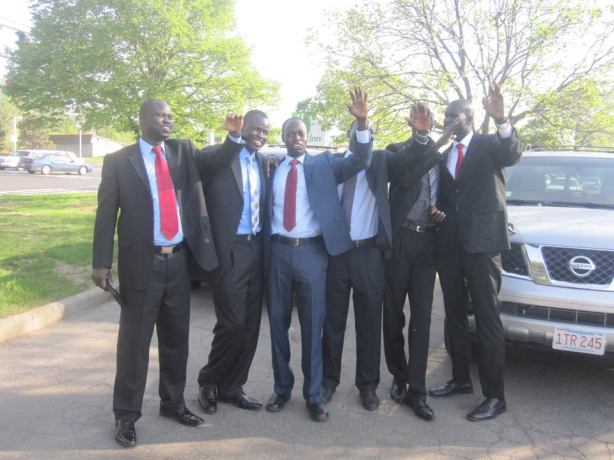 Akol Aguek Ngong with his supporters