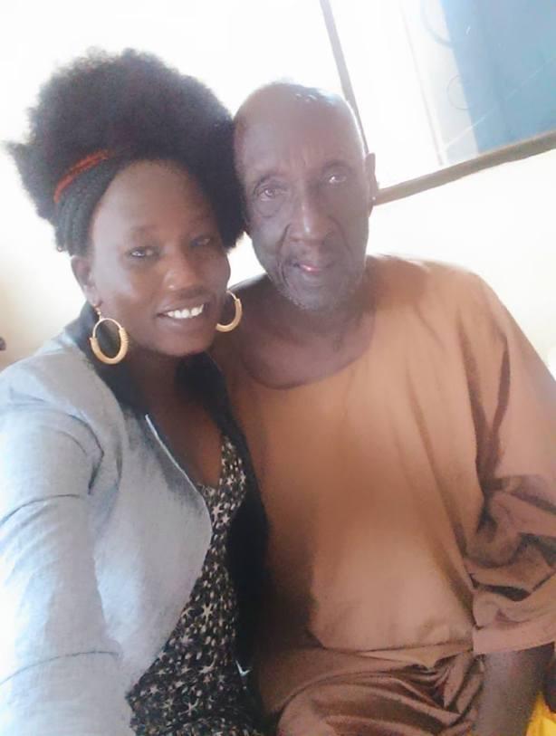 Amer Mayen Dhieu with Grandpa Mading Agok
