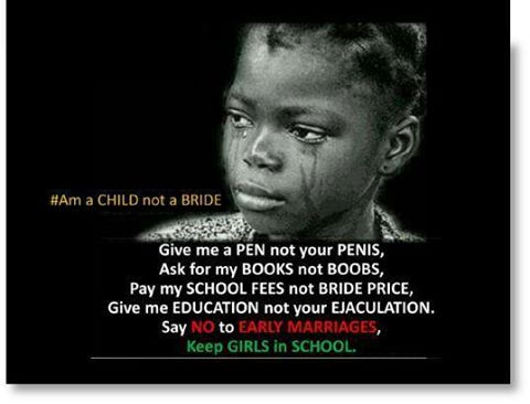 say no to early child marriage