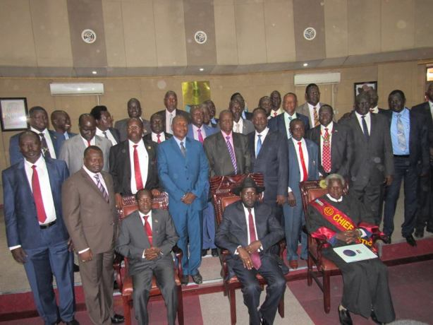 28 governors with president kiir