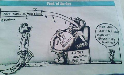 corruption in Juba