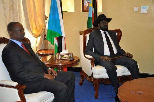 Taban Deng Ghai and President Kiir, Juba, Dec 22 2015