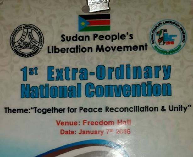 SPLM Extra-ordinary Convention