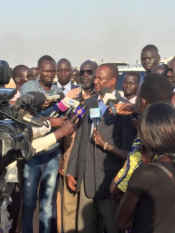 Taban back in Juba