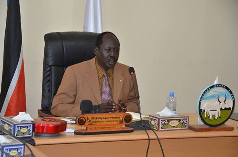 Governor Philip Aguer of Jonglei state