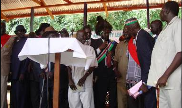 President Kiir with members of the JCE