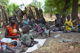 IDPs sheltering under tree in Duk Padiet, Duk County of Jonglei State, photo on Januery 27, 2016 by Jongkuch Jo Jongkuch