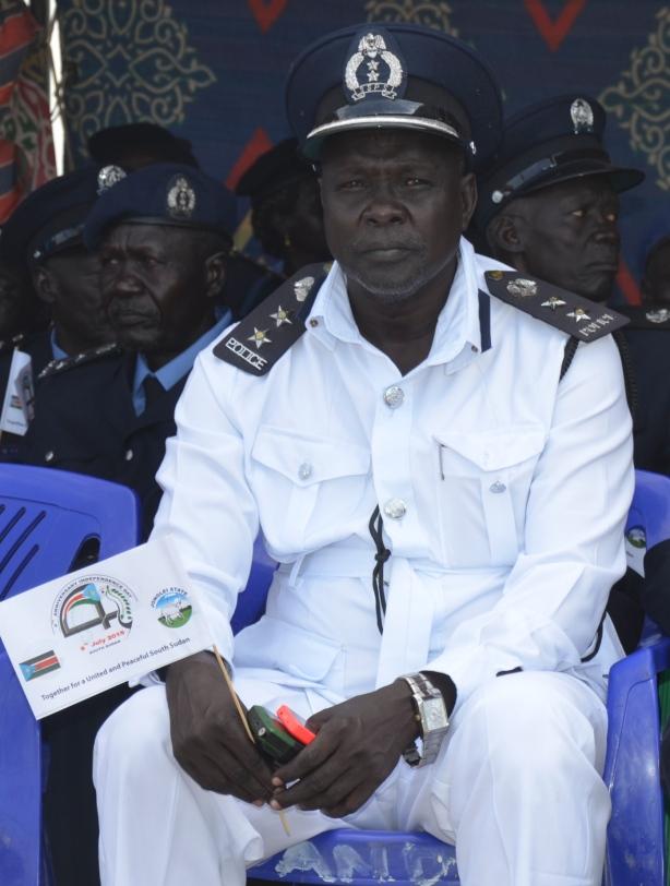 Traffic police in Bor, Solomon Mabior Ruar