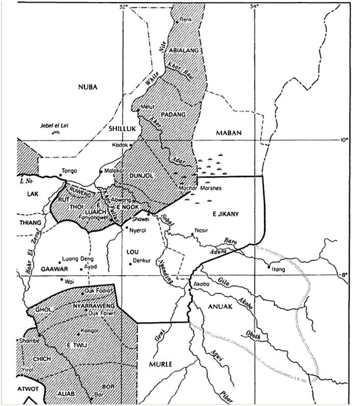 old map of jonglei counties