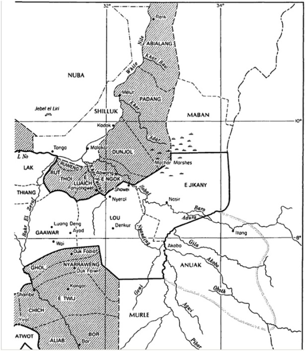 old map of jonglei counties