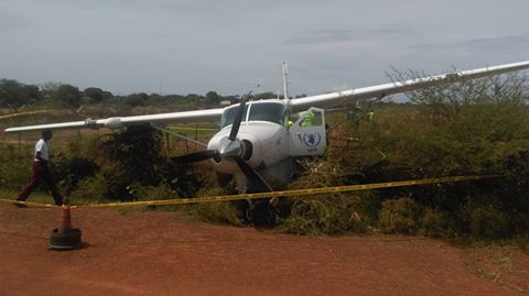 plane crash landed in Bor airport