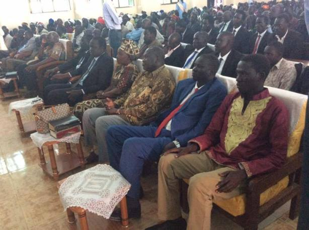 riek machar attends Emmanuel Jieng Parish