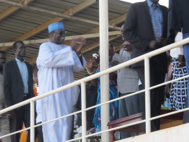 riek machar at the Mali vs South Sudan game in Juba, June 2016