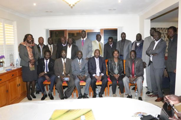 South Sudanese Community Association and the Federation of South Sudanese Association in Victoria meeting