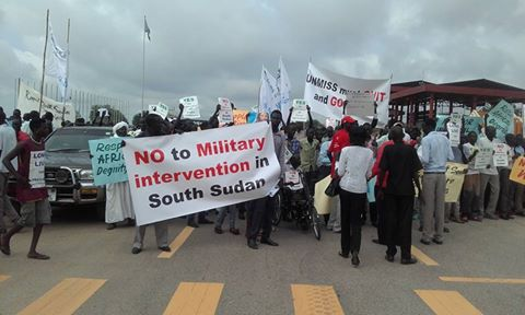 demonstration in Juba